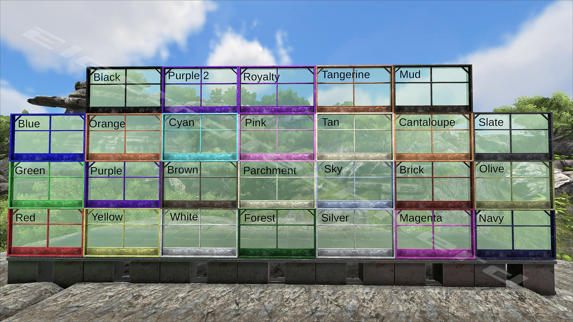 greenhouse metal tek other guides ark paint templates click here