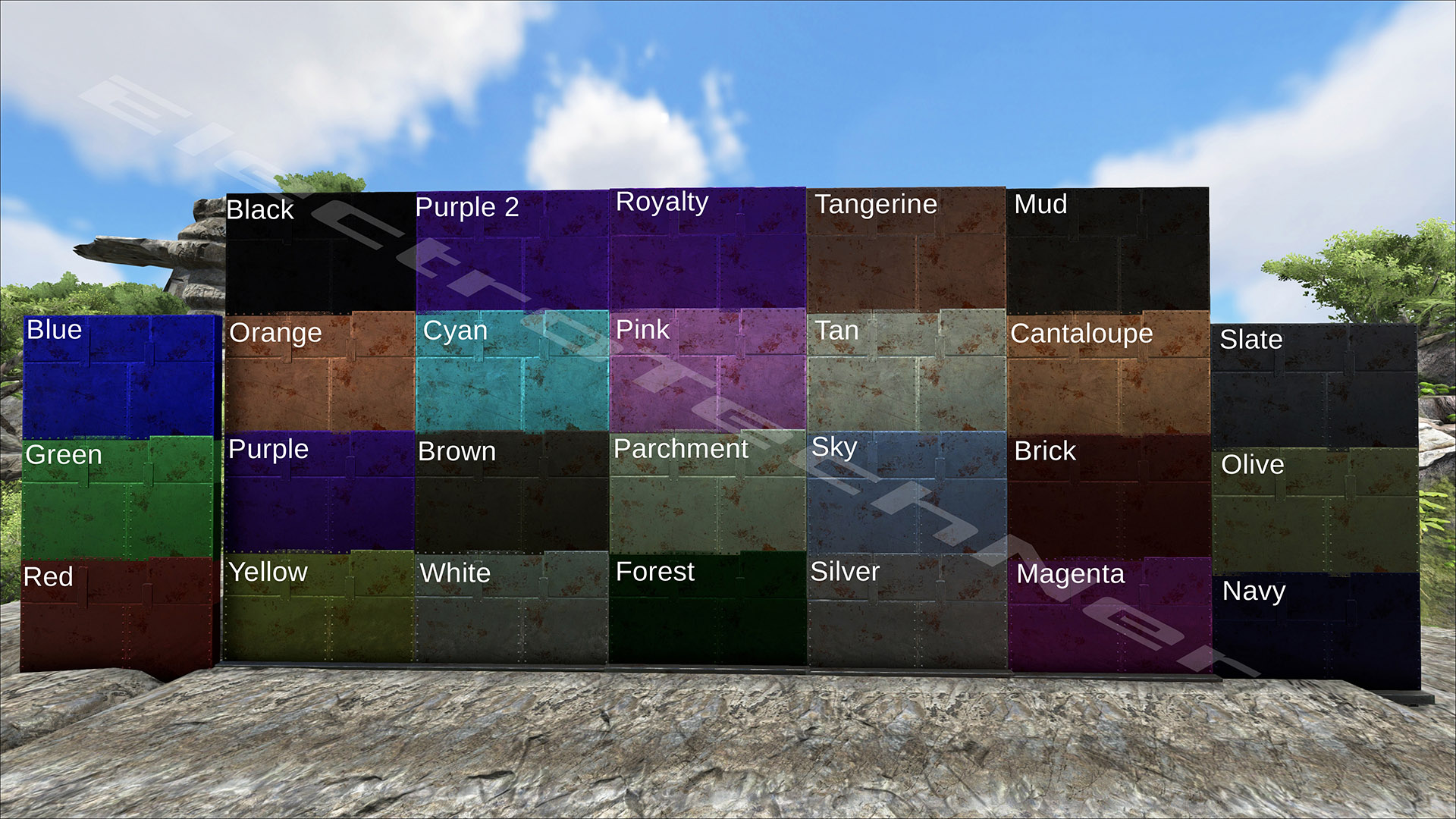 metal tek other guides ark paint templates click here