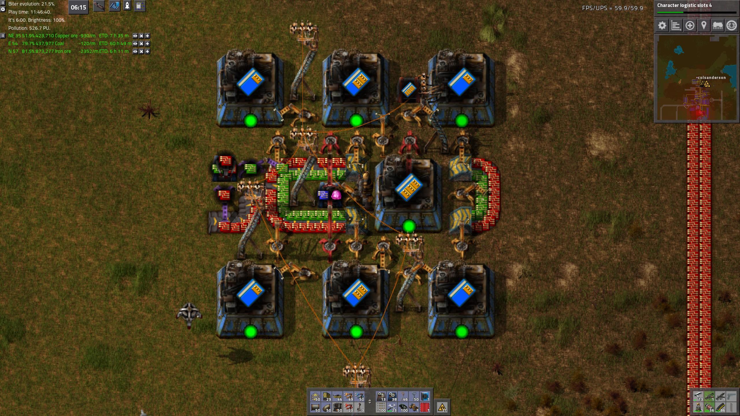 Compact 11x11 Balanced L3 Module Factory Factorio