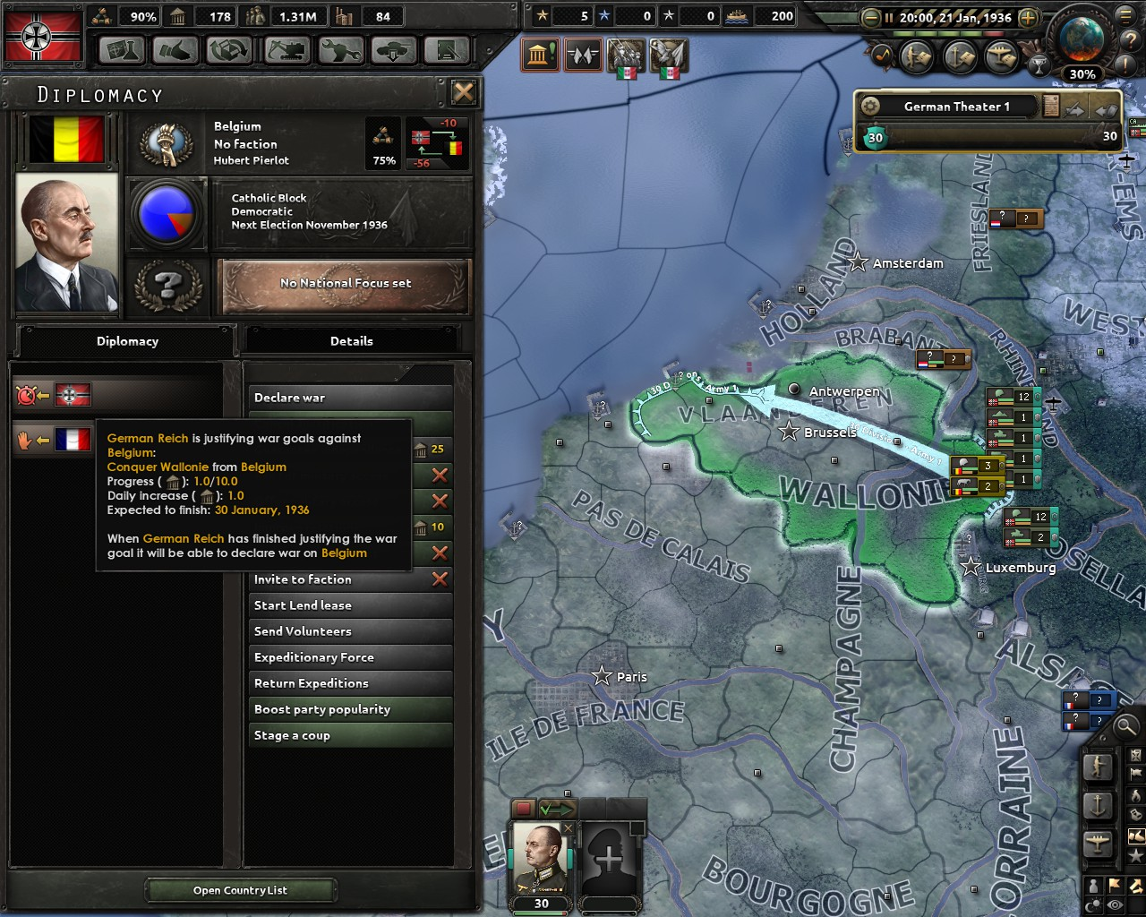 hoi4 faster war goal