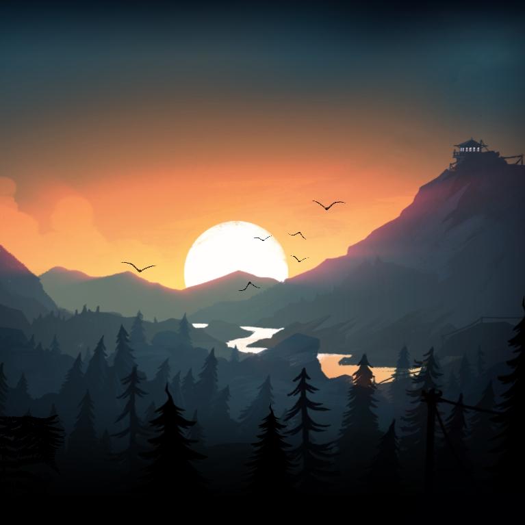 Wallpaper Engine - Firewatch - Thorofare Sunset