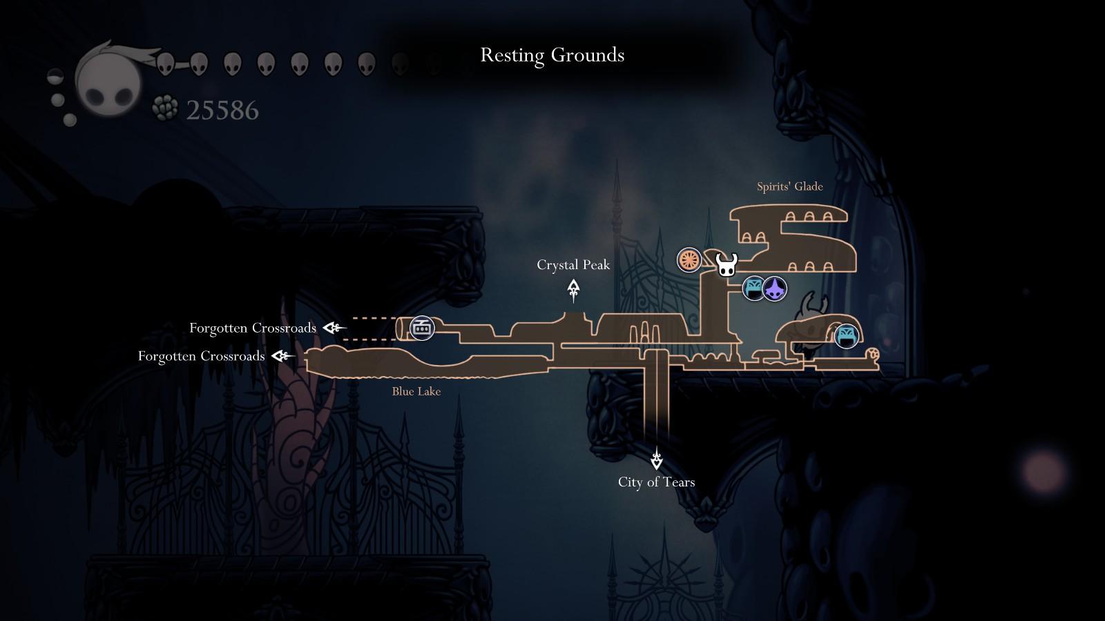 hollow knight crystal peak map