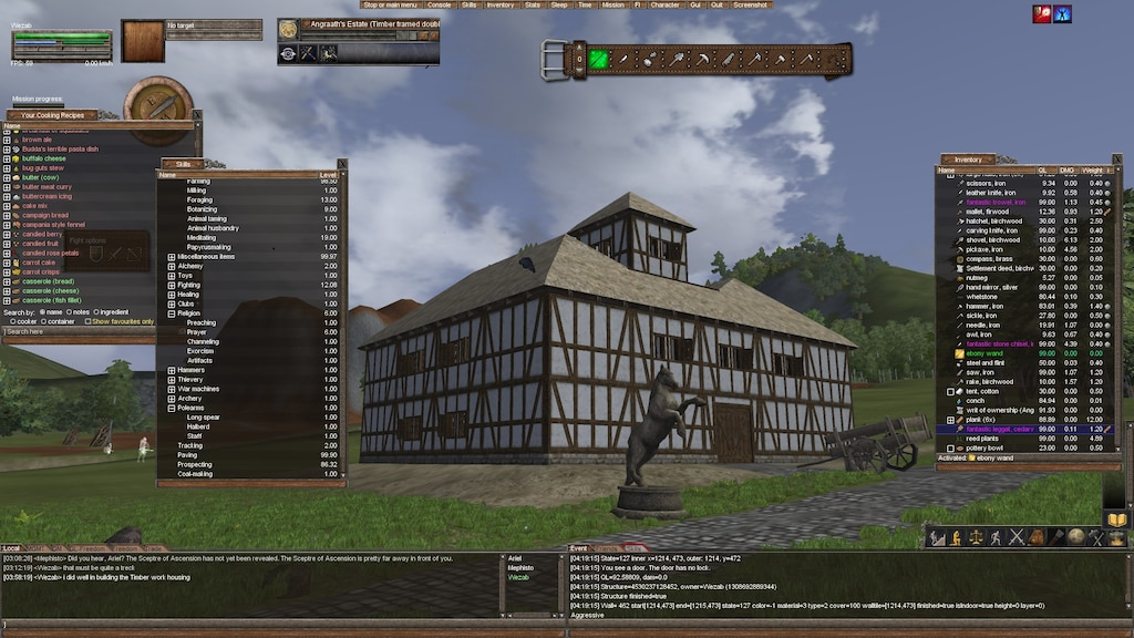 Steam Community Screenshot Timber Framed Estate With Thatch Roof