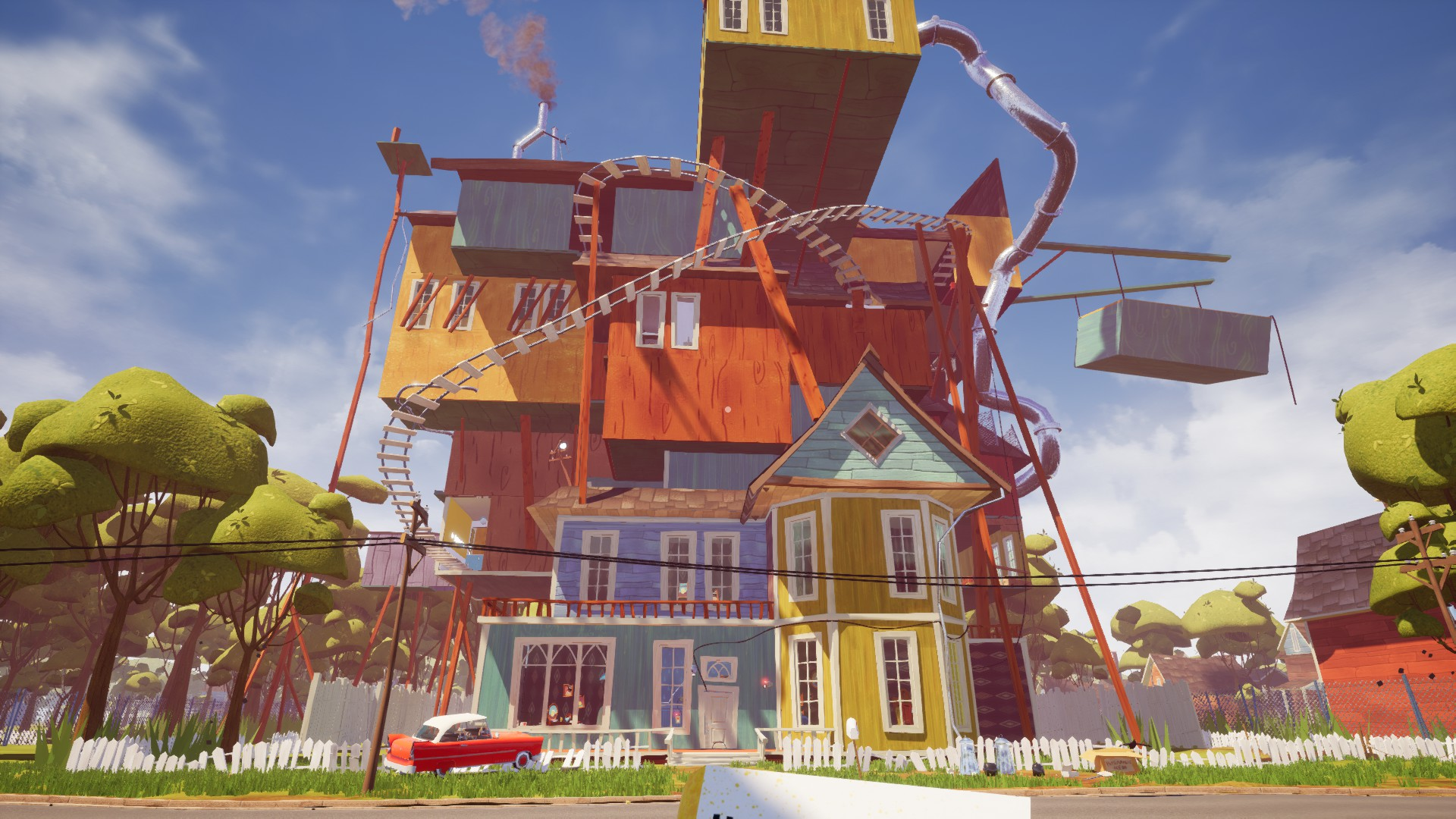 The hello neighbor house - There S Also A Windmill On The Top But I Haven T Figured Out How To Get Up There