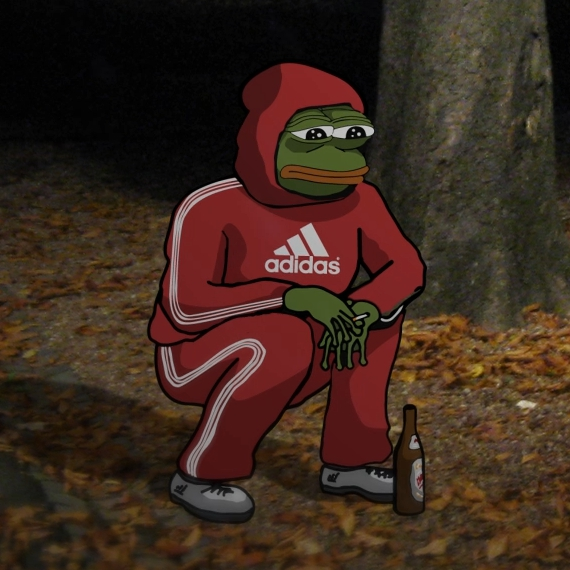Pepe FeelsBadMan squat
