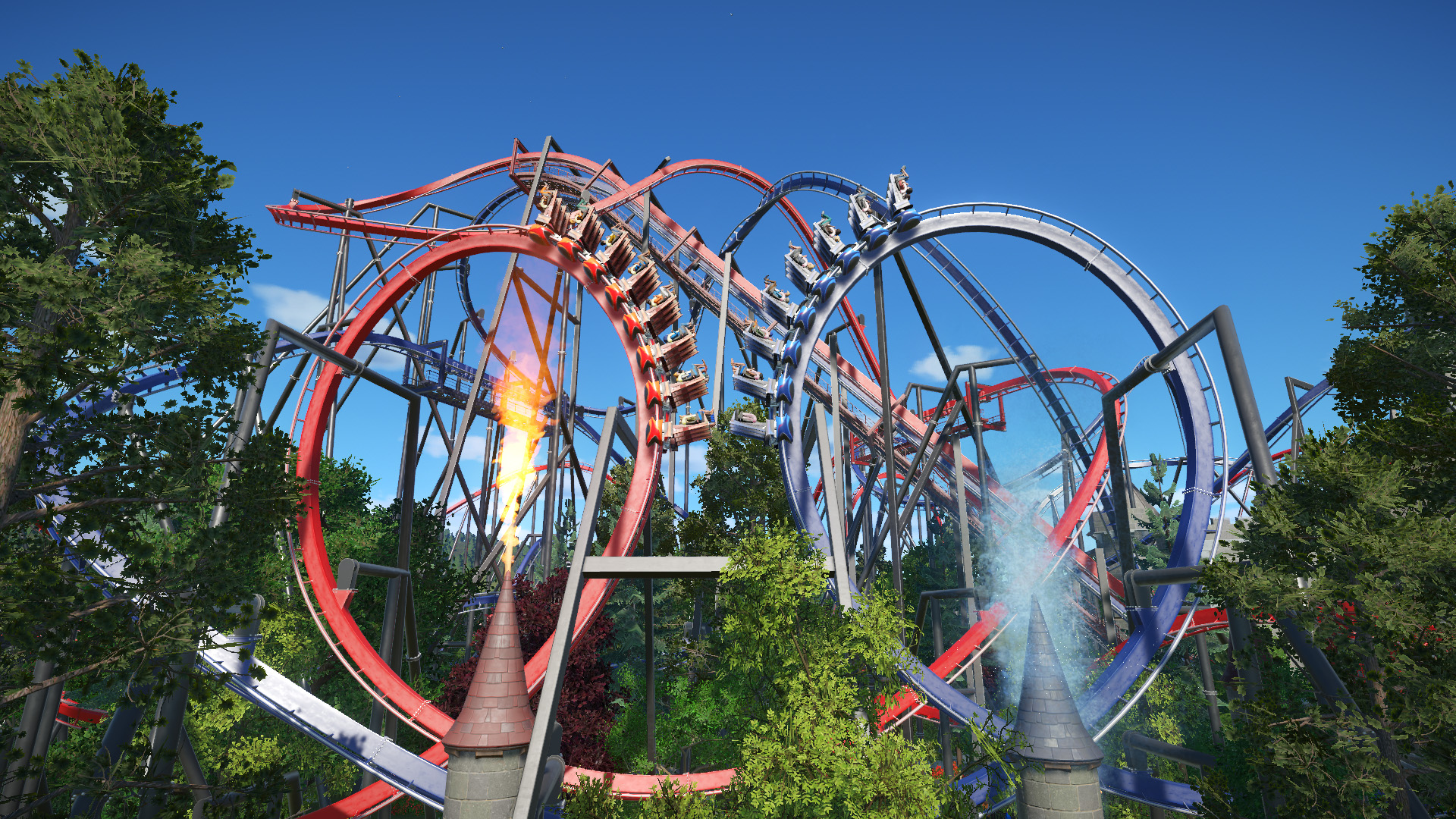 Roller Coasters Dueling Dragons - Fire VS Ice | Frontier Forums