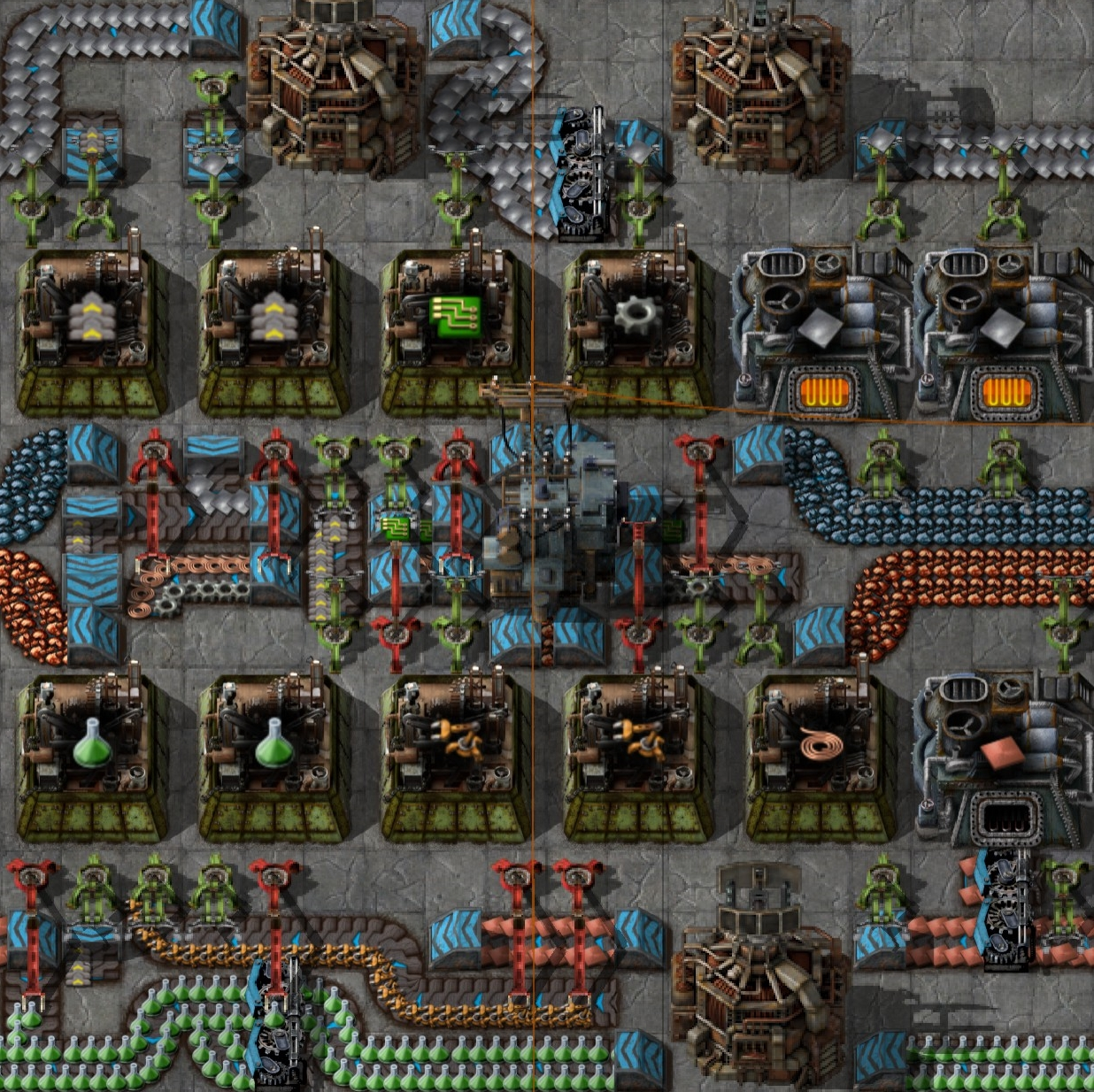 Science Pack 3 Setup Blueprint[www.chrisgpoint.eu] Important Income:  Petroleum Gas/ Coal Ore/ Iron Ore/ Copper Ore Optional Income: Copper Plate