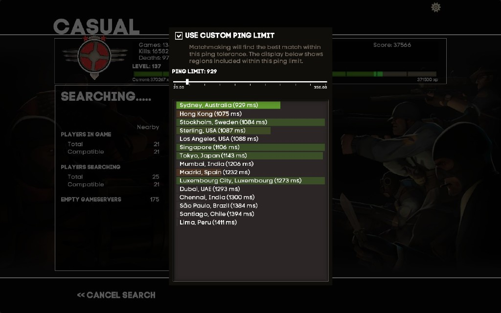 tf2 matchmaking ping limit list of free dating site in the world