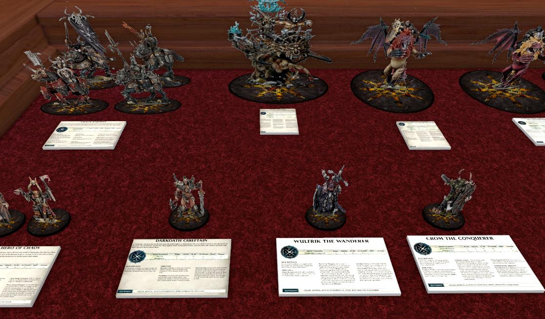 Warhammer Age of Sigmar Slaves to Darkness Warscroll Cards