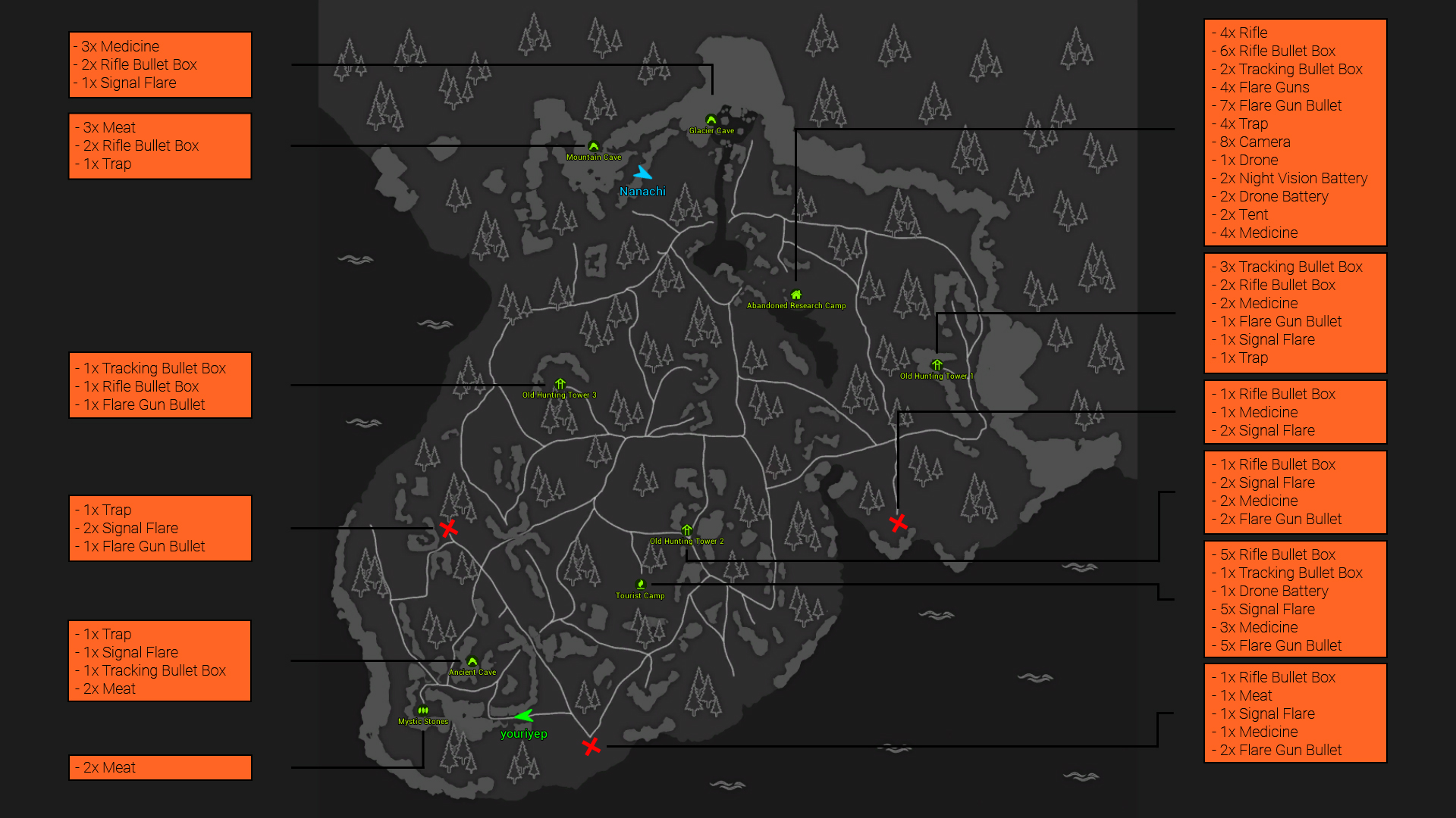 Steam Community :: Guide :: BIGFOOT Map and Loot Locations