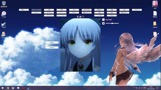 Steam Workshop Angel Beats Kanade Interactive Wallpaper
