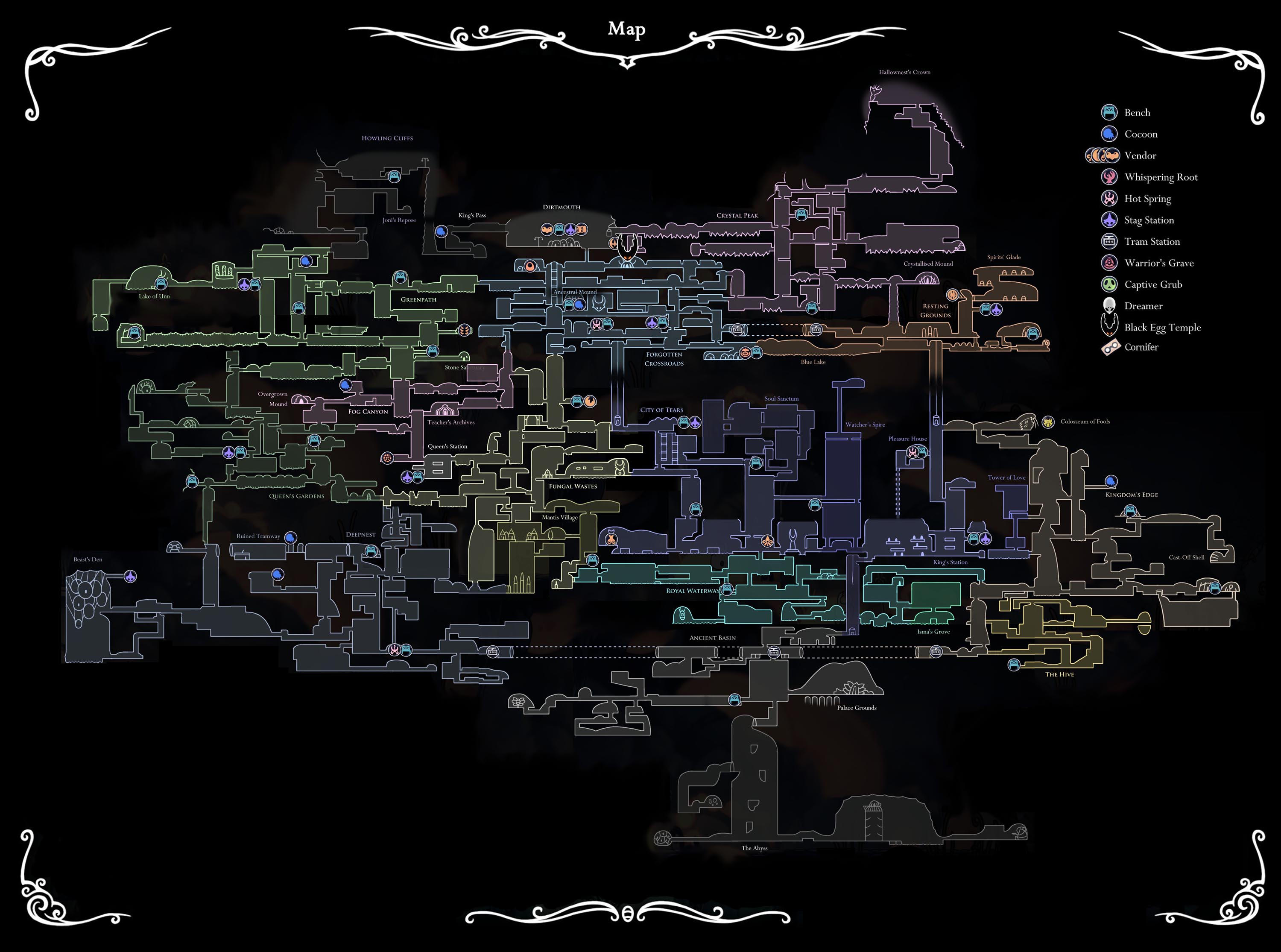 Mapa Completo Hollow Knight.Steam Community Guide Maps Of Hallownest