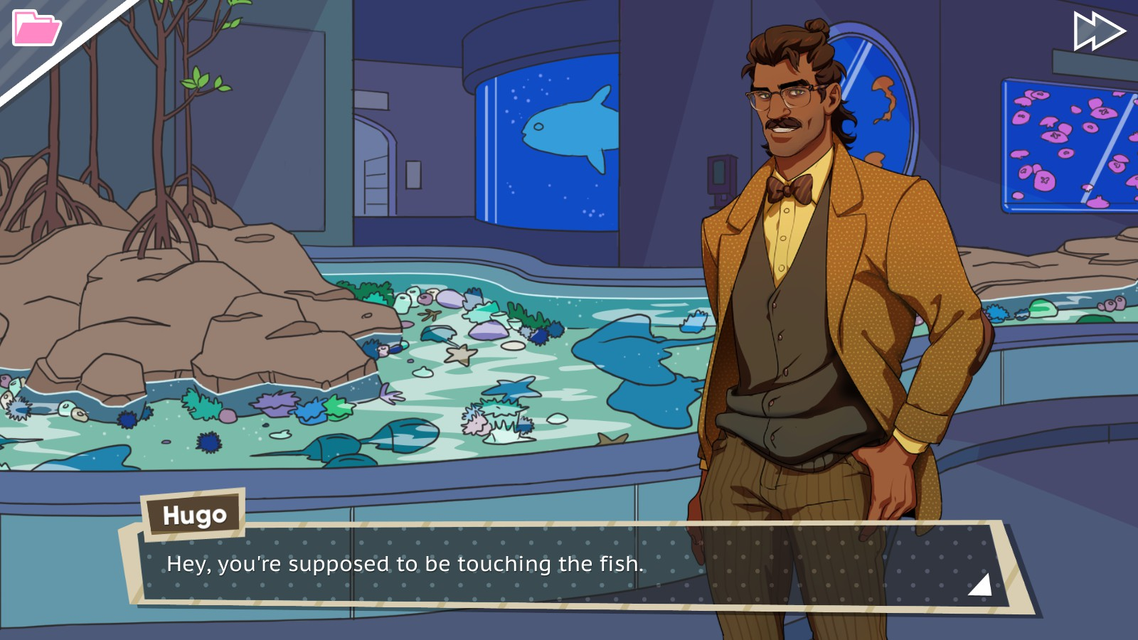 Dream Daddy Hugo Aquarium Date