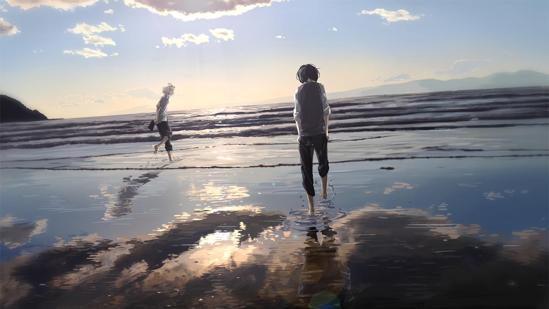 Anime Girl   Beach   Ocean Wallpaper Engine