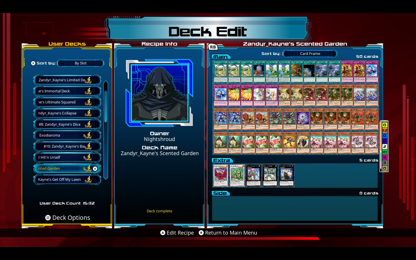 This One's A Plant Deck With Aromage And Other Support It's Good At  Healing Lp And Getting Some Strong Plant Monsters Out And Adding Piercing  Effect To