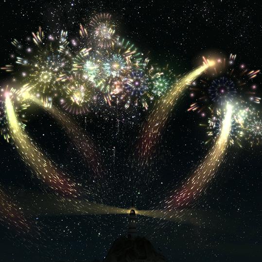 Wallpaper Engine - Final Fantasy XIV Fireworks (1080p FFXIV)