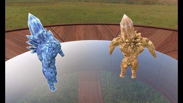 Steam Workshop Crystal Golem Gold Blue Dark Souls