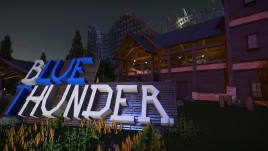 Steam workshop blue thunder hybrid coaster tags animatronic blueprint building coaster coaster station hybrid coaster large building nature other shops and facilities scene scenery malvernweather Image collections
