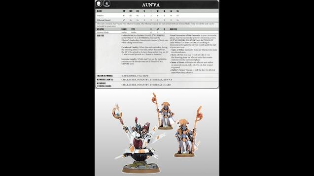 Steam Workshop :: Warhammer 40k 8th Ed datacards: Tau Empire
