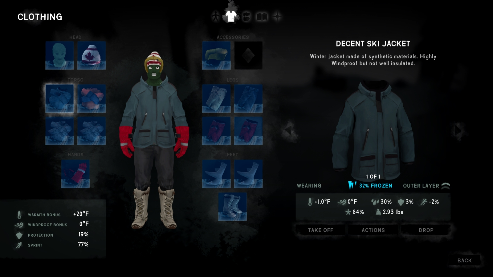 how to get rid of frostbite the long dark