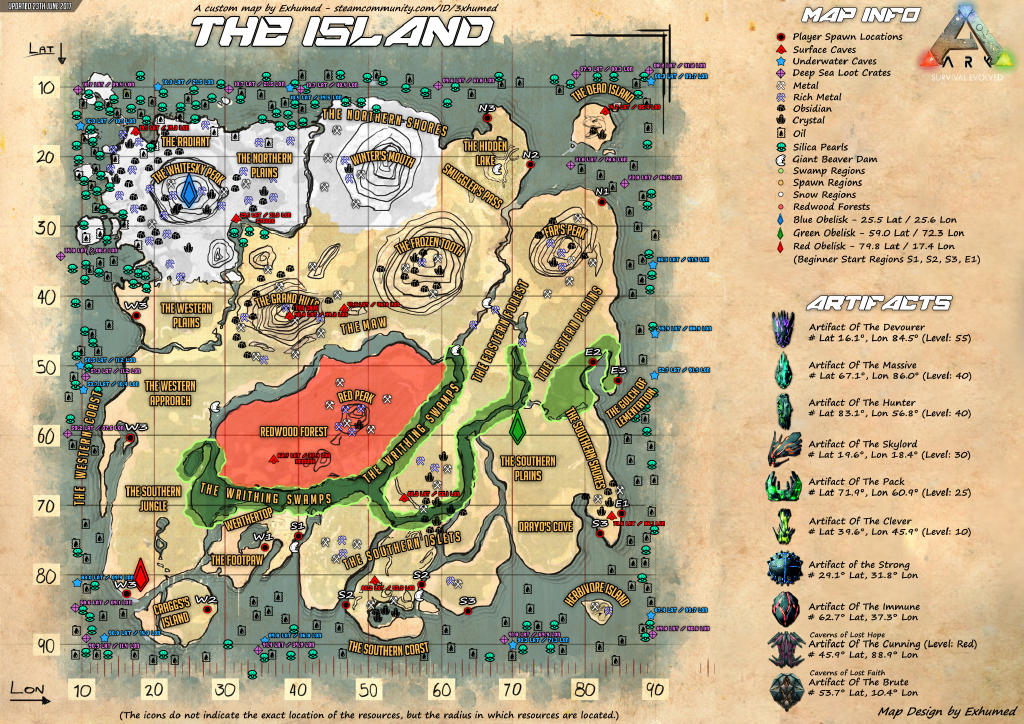 Ark Island Caves Map