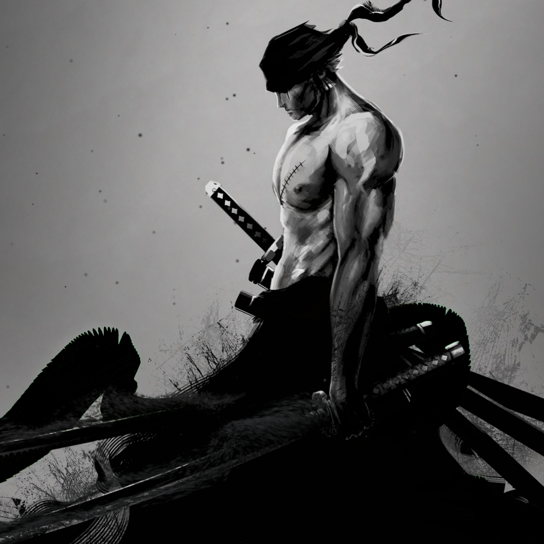 Zoro (Black and White) Wallpaper Engine