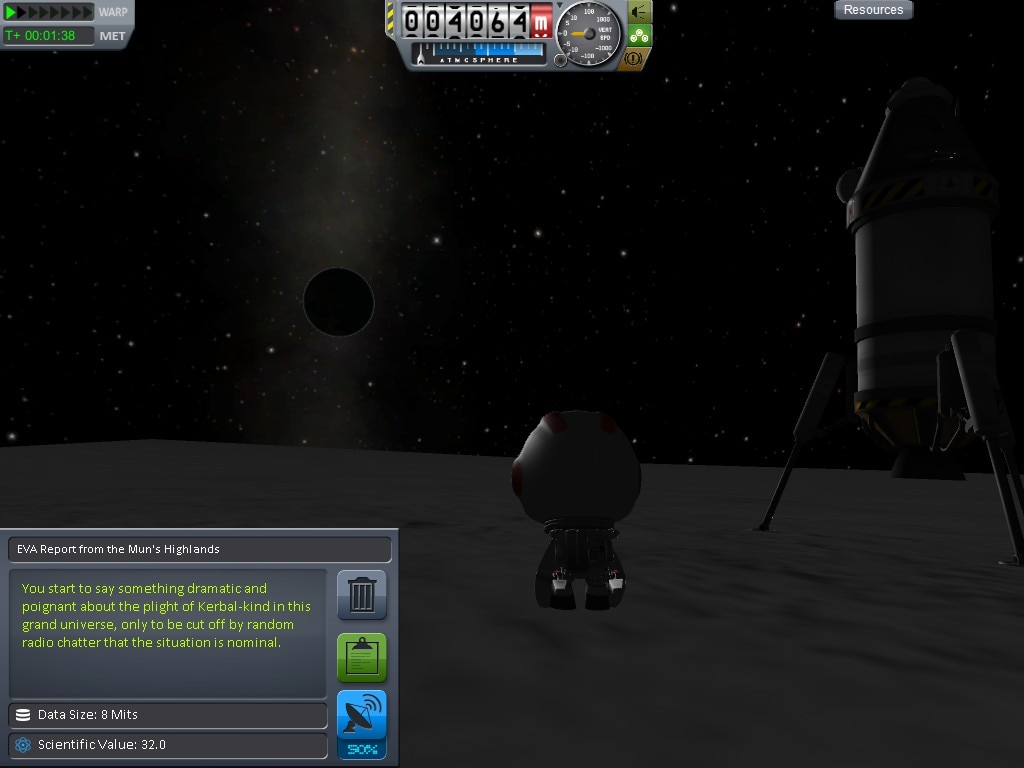 Steam Community :: Screenshot :: Mun landing at tier 2 science