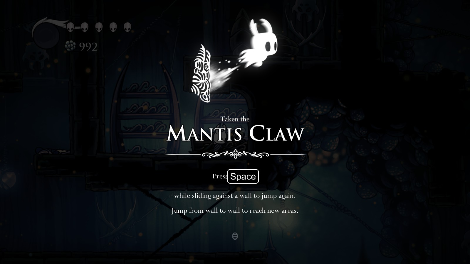 d08115c2e Mantis Claw - Reward for clearing top part of Mantis Village (Fungal  Wastes), requires Mothwing Cloak