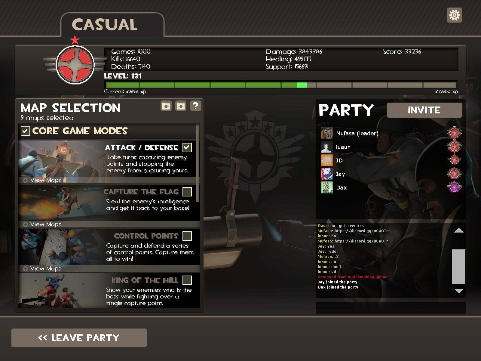 Tf2 party matchmaking