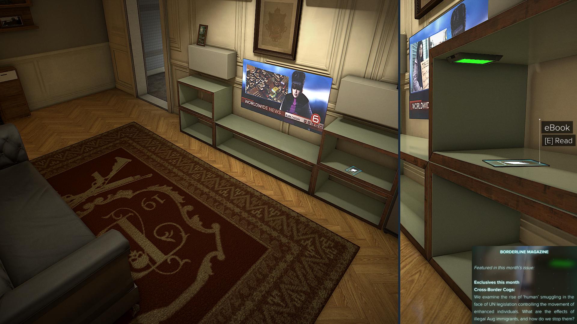 """fac52b982 V apartmánoch v Štvrti červených svetiel, kam vás zavedie úloha """"All In the  Family"""". V byte číslo 94, pod televízorom."""
