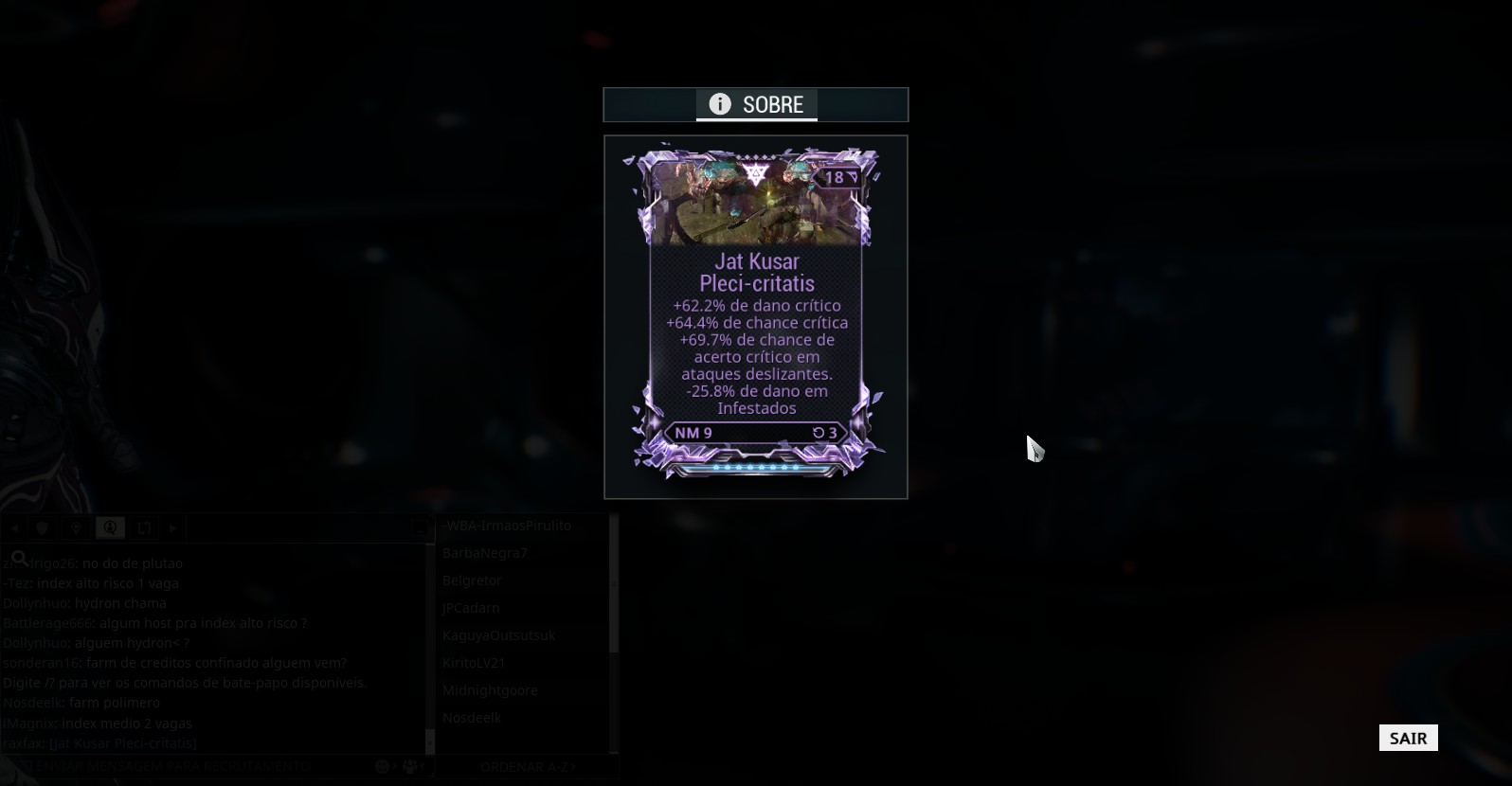 WTS jat kusar riven CC/CD/CC on slide -dmg to infested - PC