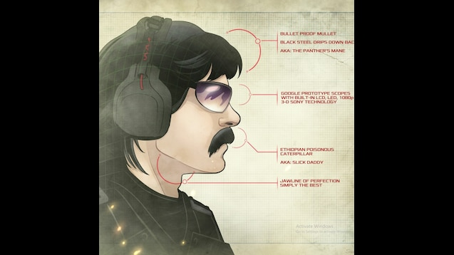 Steam Workshop Dr Disrespect Animated Wallpaper