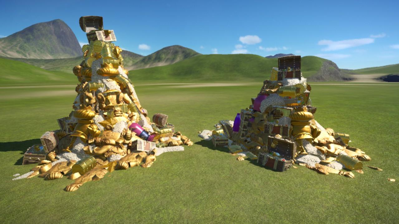 Piles o' treasure!