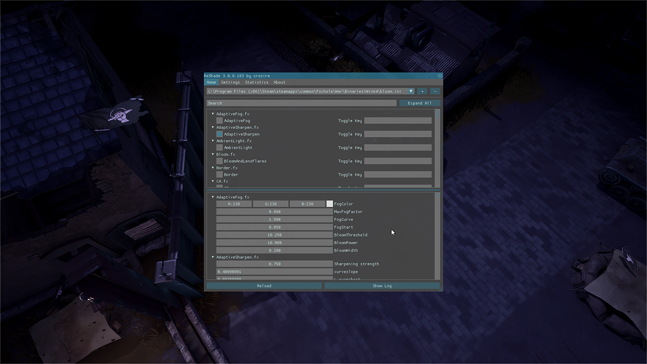 steam community guide how to use reshade v3 0 8 with foxhole