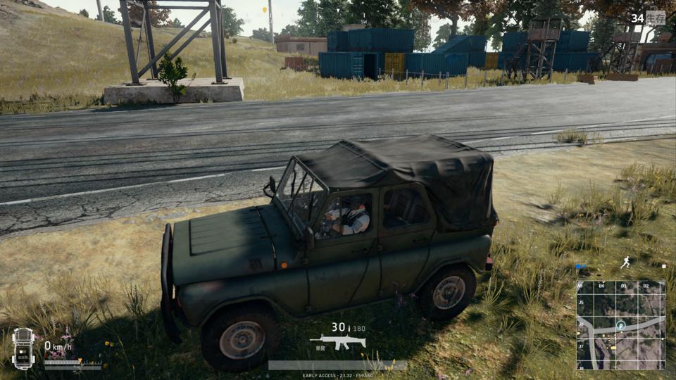 машины в пубг