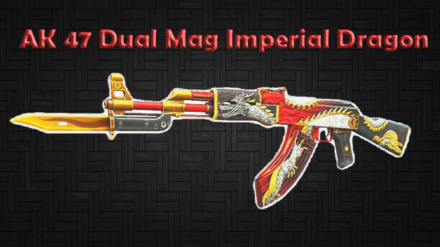 Crossfire: AK 47 Dual Mag Imperial Dragon ( Glowing )