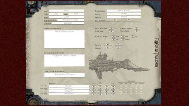 Steam Workshop :: Rogue Trader: Ship Sheet
