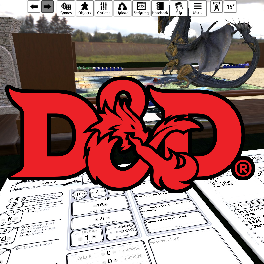 Steam Workshop :: D&D 5 Table (with scripted character sheets)