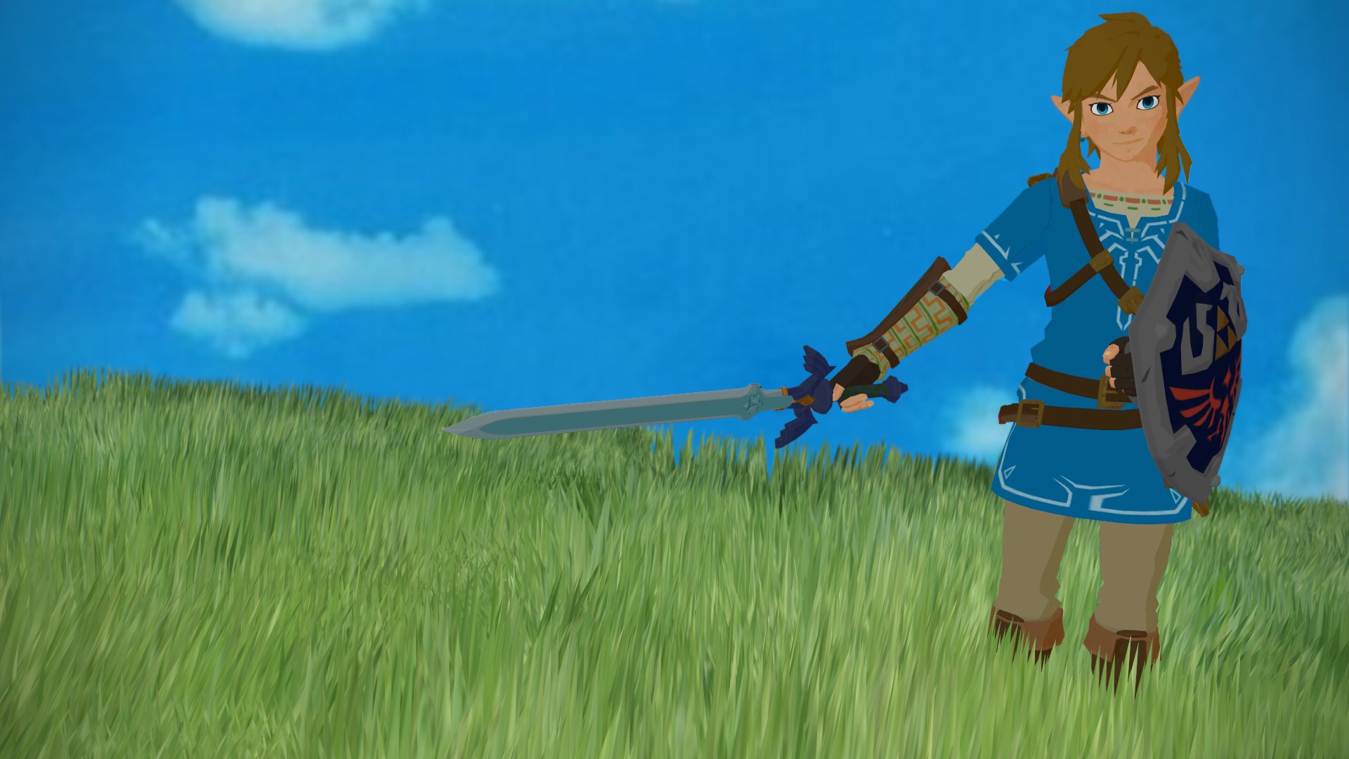 Steam Community Breath Of The Wild Mmd Link Wallpaper