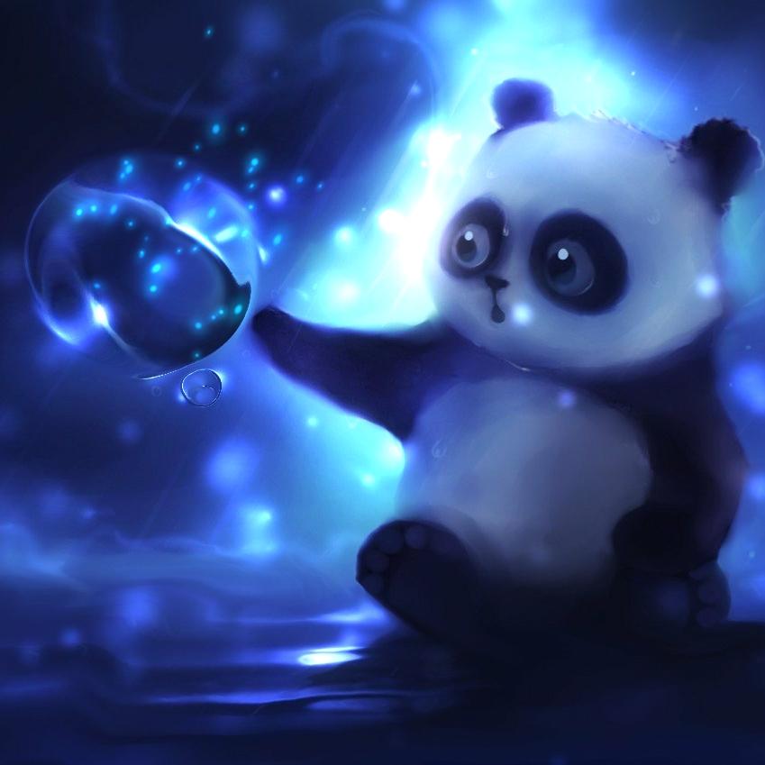 Cute Panda With Magic Spher Wallpaper Engine