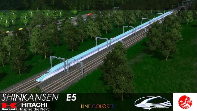 Steam Workshop :: Shinkansen E5 Series (10 Cars) Bullet Train