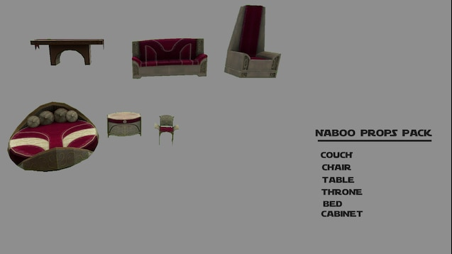 Groovy Steam Workshop Star Wars Cwa Naboo Props Pack Creativecarmelina Interior Chair Design Creativecarmelinacom