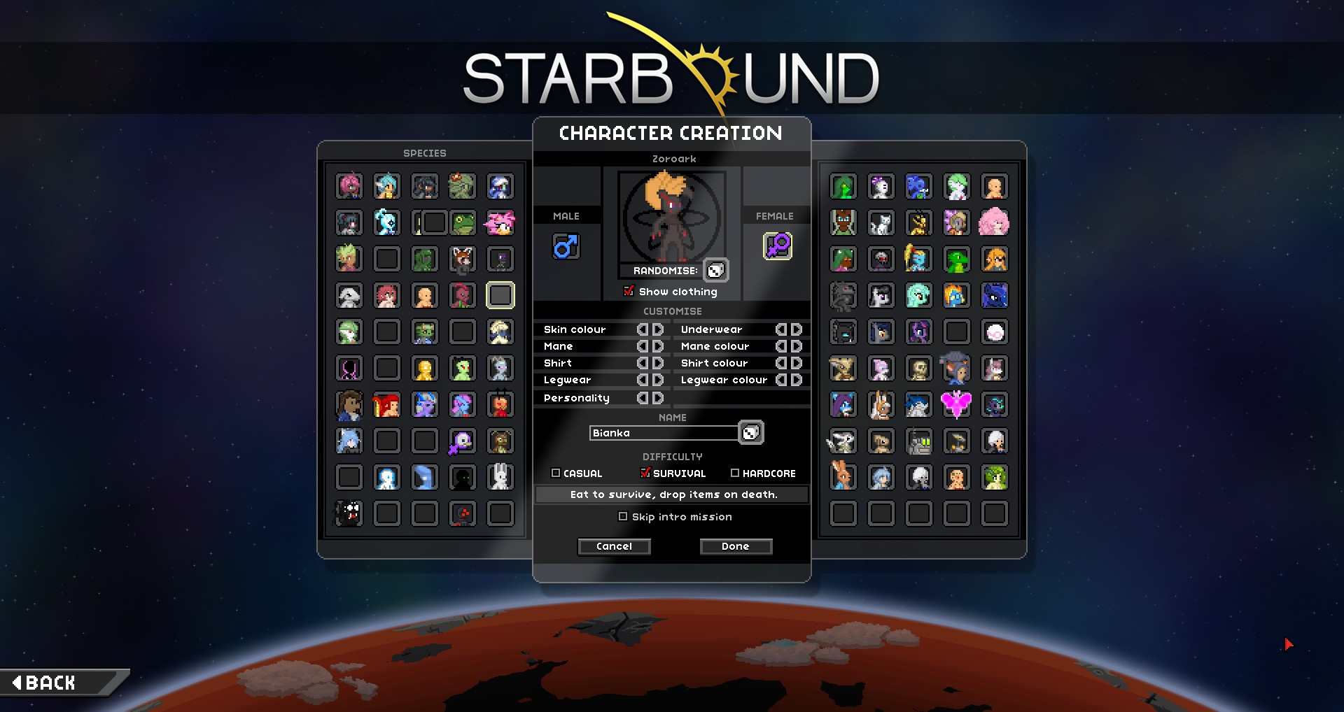 steam workshop starbound race and anime music pack