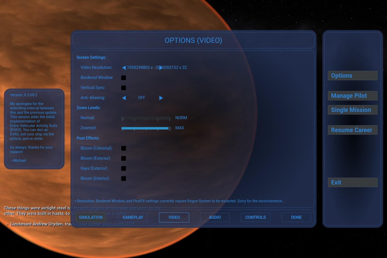 Massive negative resolution default :: Rogue System Bug Reporting