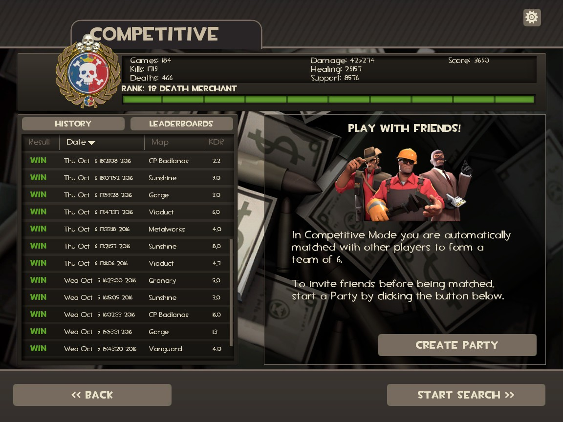 Tf2 competitive matchmaking release date