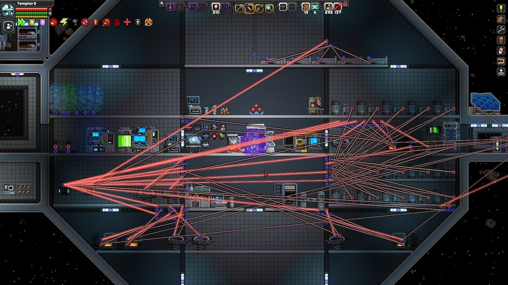 Steam Community :: Screenshot :: My mess of wires in Frackin