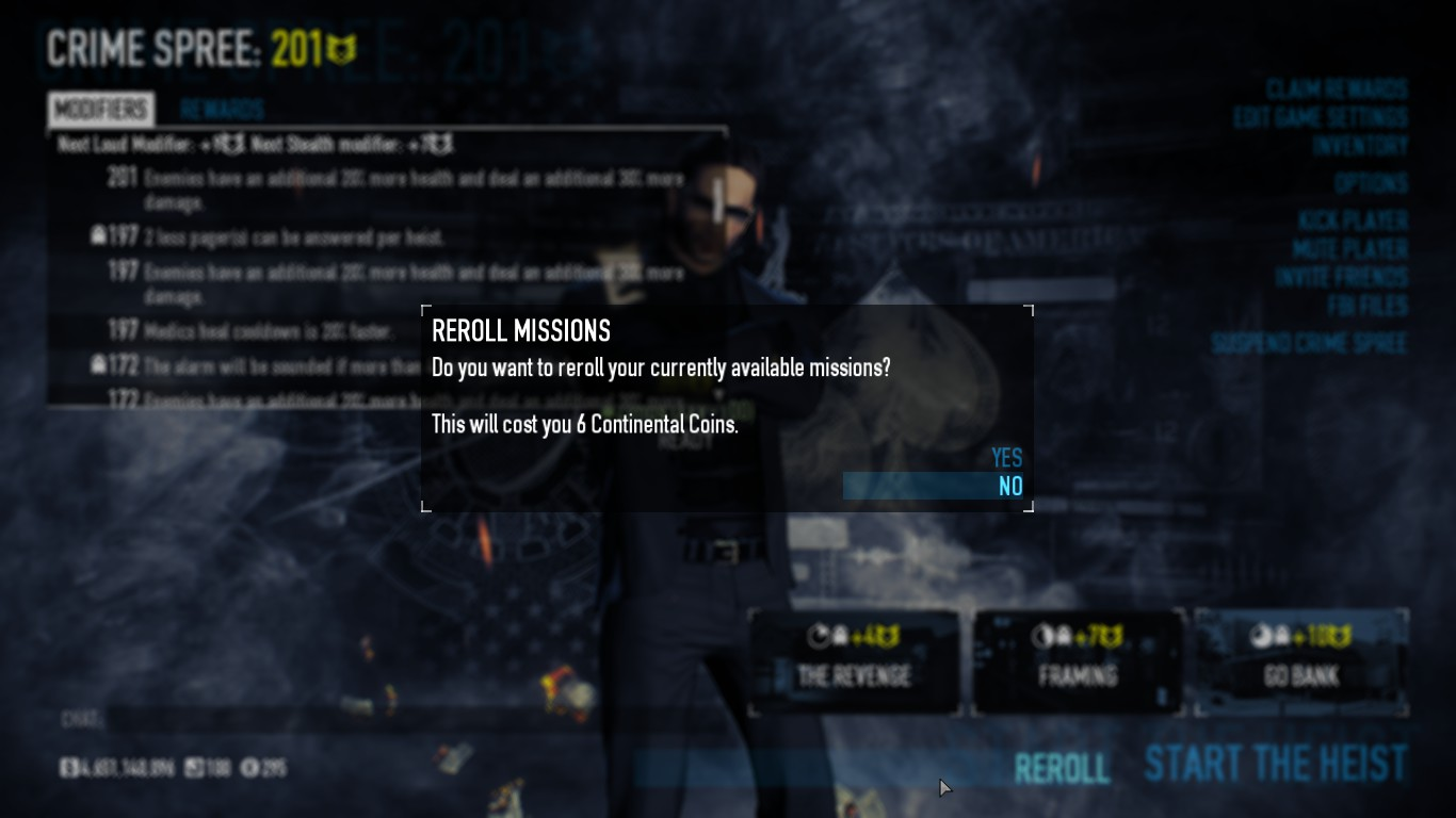 continental coins payday 2