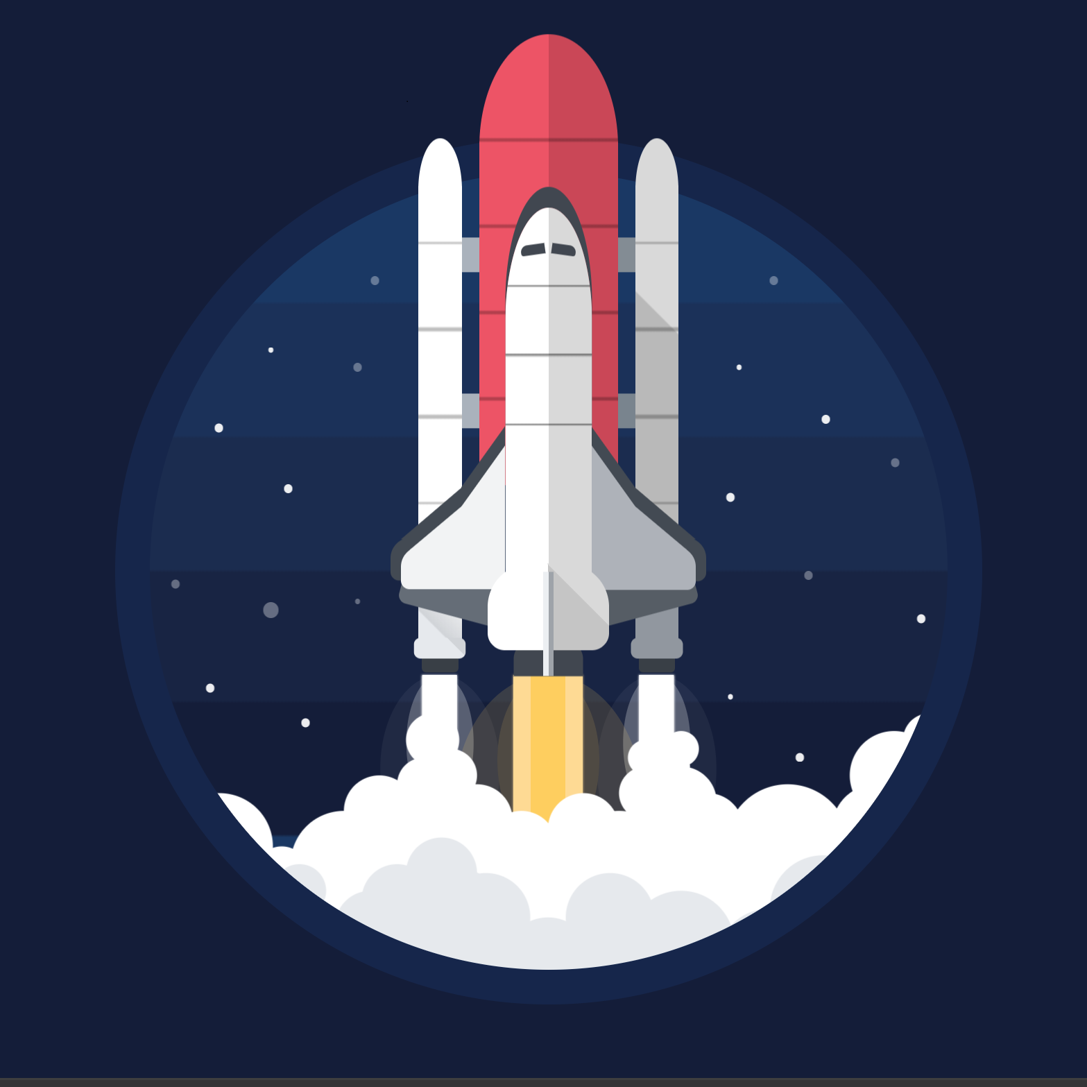 CSS Space Shuttle Wallpaper Engine