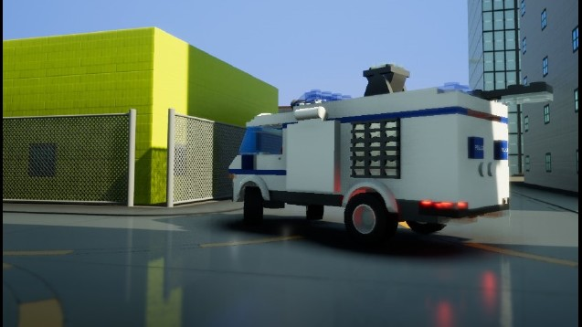 Steam Workshop Lego City Police Van 7286