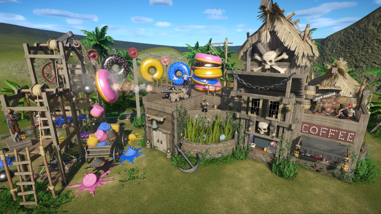 "Pirate - ""Canon Ball"" Donuts, Coffee Shop & Toilets  - Please give a Thumbs Up Rating if you like it...Thx Tillietwos ;)"